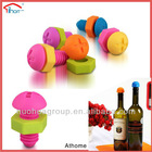 funny food grade standard silicone flip top bottle stoppers
