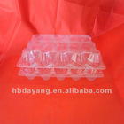 3*5 PVC transparent plastic egg serving tray