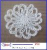 CROCHET FLOWER APPLIQUES WHITE