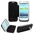 3200mAh Extended Battery Charger Leather Case For Samsung Galaxy S III I9300 S3