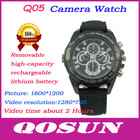 New design Removable Battery and memory card, hidden HD 1280*720 mini hidden cameras watch