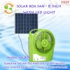 Small Solar Fan With LED Light