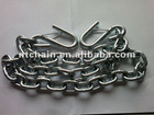 zinc plated g70 metal chain with hook each end