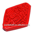 Cinnabar Beads, Carved Lacquerware, red carved lacquer beads(CARL-P010-1)