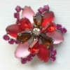 wholesale acrylic flower brooch