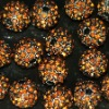 Bulk sales shamballa crystal alloy beads Topaz rhinestone crystal pave ball beads