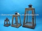 metal wooden lantern