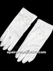 G03 Elastic Satin Fingertips Wrist Length Flower Girl Gloves