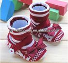 Baby crib Girl shoes with Bowknot MOQ 8 Dozen