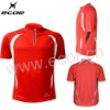Mens wicking quick dry short sleeve cycling shirt