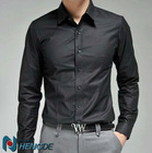Plain fitted men non-iron shirts MS1368