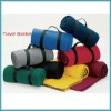 100%polyester polar fleece travel blanket (with handle strap)