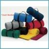100%polyester polar fleece travel blanket (with handle strap)
