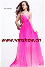 2011 Latest Designed One-Shoulder Hot Pink Cheap Prom Dresses