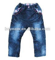 Kids autumn and winter baby jean