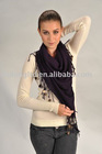 ladies fashion 100% cashmere knitted shawl