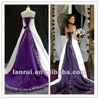 2013 real sample purple and white wedding dresses