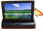 4.3inch Flip Down Car Rear View Monitor, with Two Video Inputs,Resolution of 1440*272