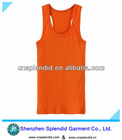 stylish high quality plain orange cotton women vest