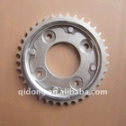 color is white or yellow motorcycle wheel sprocket