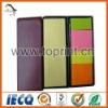 Slim color paper memo pad with box