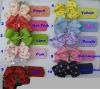 "Ribbon Hair Bows with 1.5"" Crochet Headband ( H025)"