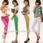 2012 nice and popular cheap coloured skinny pant for girl