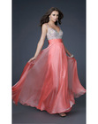 Glittering Beading Straps Tencel A-line Evening Dress