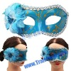 Funny Beautiful Flower Style Mask For The Coming Halloween(Blue)
