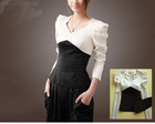 office ladies' shirt fashion shrug bodysuit long sleeves trench shirt #206