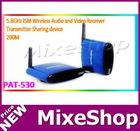 PAT-530 5.8GHz ISM wireless av sender Sharing device 200M distance