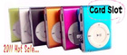 2011 Hot sale ! Clip MP3 Player with Card Slot with CE/ROHS/FCC, 100pcs/lot