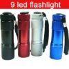 Colourful 9 LED Mini Torch Flashlight Lamp Aluminum For Camp Picnic Hiking