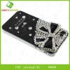 beautiful 3D rhinestone mobile phone case for ip 4