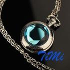 ^_^New Bling Lady Pocket Ornament Necklace Quartz Watch