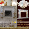home decoration marble fireplace carving design LST0063
