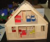 wooden toy doll house 2 floor