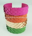 newly fashion metal fish flap cuff bracelet and bangle jewelry