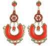 fashion Fancy hot sale alloy rhinestone bohemia Drop earring 2012 for woman