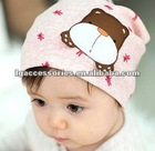 Cute cartoon bear baby cap Children's Topee Sunbonnet Peaked Cap