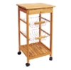 Solid Bamboo Kitchen Trolley