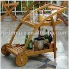 KD wooden drink trolley with tray