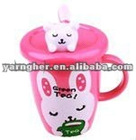 2012 christmas gift idm gift lovely animal cartoon plastic water bottle