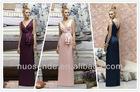 Ever Pretty Trailing V-neck Ruffles Cross Back Empire Waist Bridesmaid Dress