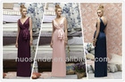 Ever Pretty Trailing V-neck Ruffles Cross Back Empire Waist Bridesmaid Dress
