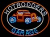 Hot Rodders Garage Neon Beer Sign
