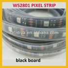 Black board 5m led digital strip,DC5V input,WS2801IC(256 scale);32pcs IC and 32pcs 5050 SMD RGB full color
