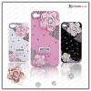 diamond flower case for iphone 4