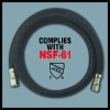 Flexible nylon braided icemaker hose