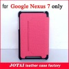 For Google Nexus 7 case,PU Leather Case with PC back cover